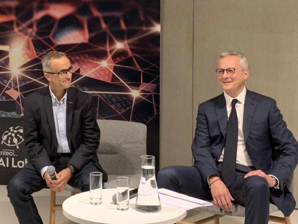 Jean-Baptiste Rudelle, CEO de Criteo et Bruno Le Maire, Ministre de l'Economie et des Finances