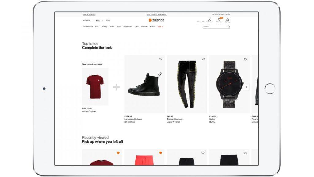 Zalando produit tablette TechTalks